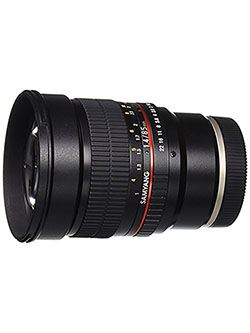 SY85M-E 85mm F1.4 Aspherical High Speed Lens for Sony E-Mount Cameras by Samyang