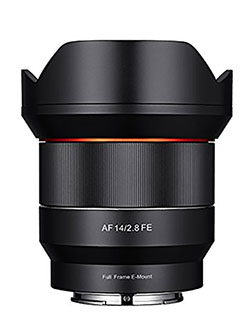 SYIO14AF-E 14mm F2.8 Full Frame Auto Focus Lens for Sony E-Mount, Black by Samyang