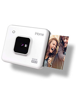 iHome Square 2-in-1 Instant Print Camera + Printer, Square 3x3 inch Printouts by ELITE - SELLER FULFILLED PRIME