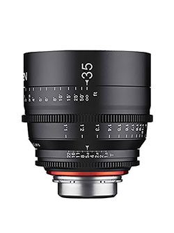 Xeen XN35-PL 35mm T1.5 Professional Cine Lens for PL Mount Pro Video Cameras by Rokinon in Black