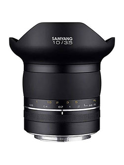 SP Special Performance 10mm f/3.5 Ultra Wide Angle Lens for Canon EF Mount by Samyang in Black