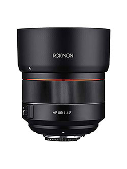 ROKINON 85mm F1.4 Auto Focus Full Frame Weather Sealed High Speed Telephoto Lens for Nikon F Mount by Rokinon