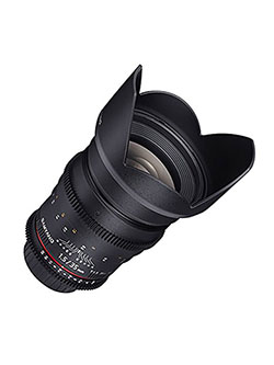 SYCV35M-MFT 35mm t1.5 Ultra Wide Cine Angle Lens for Olympus/Panasonic Micro 4/3 Cameras by Samyang in Black