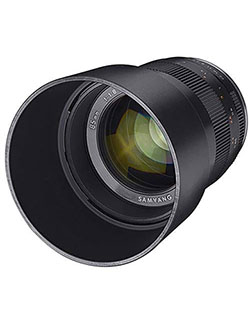 SAMYANG 85mm f/1.8 Manual Focus Lens for Sony E Mount Nex Series Cameras by Samyang