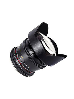 SYCV14M-MFT 14mm t3.1 Ultra Angle Cine Lens for Olympus/Panasonic Micro 4/3 Cameras by Samyang in Black