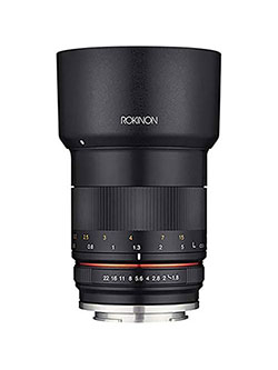 85mm f/1.8 Manual Focus Lens for Sony E Mount Nex Series Cameras by Rokinon