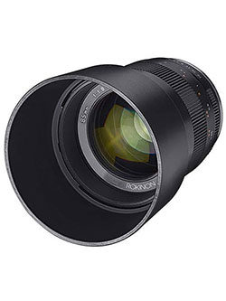 85mm f/1.8 Manual Focus Lens for Fujifilm X Mount Mirrorless Cameras by Rokinon
