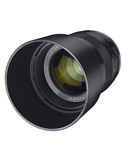 85mm f/1.8 Manual Focus Lens for Canon EOS M Series Mirrorless Cameras by Rokinon