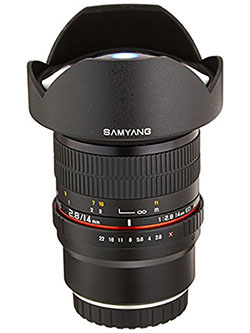 SY14M-FX 14mm F2.8 Ultra Wide Lens for Fuji X Mount Cameras by Samyang in Black
