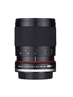 300M-FX-BK 300mm F6.3 Mirror Lens for Fuji X Mirrorless Interchangeable Lens Cameras by Rokinon in Black