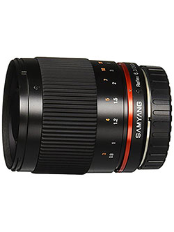 SY300M-M-BK 300mm F6.3 Mirror Lens for Canon M Mirrorless Interchangeable Lens Camera by Samyang in Black