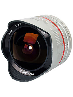 SY28FE8S-SE 8mm F2.8 Ultra-Wide Fisheye Lens for Sony E-mount and NEX Cameras by Samyang in Silver, Toys