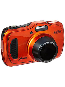 "20.0 Mega Pixels Waterproof HD Digital Camera with 4X Optical Zoom & 3"" LCD Screen, Orange by Coleman in Orange"