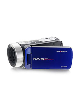 "Bell+Howell 1080p Full HD Video Camcorder with 24 MP Still Image Resolution & 3"" Touch Screen LCD, B by Bell + Howell in Blue"