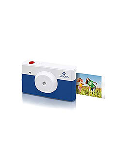 Instapix 2 in 1 Instant Print Digital Camera & Bluetooth Printer by Minolta in Blue
