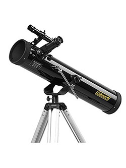767AZ1 700 x 76 mm Reflector Telescope with Tripod by Rokinon in Black