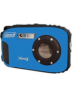 C9WP-BL Xtreme3 20 MP Waterproof Digital Camera with Full 1080p HD Video by Coleman in Blue