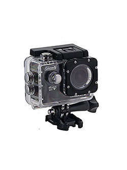 CX14WP Conquest3 4K Ultra HD Action Camera with Waterproof Housing & Mounts, Black by Coleman in Black, Toys