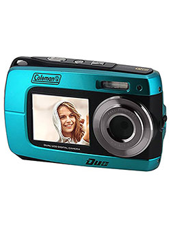 Duo2 2V8WP Dual Screen Shock & Waterproof Digital Camera by Coleman in Blue