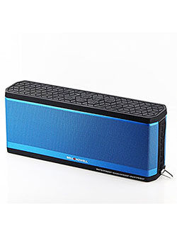 Bell+Howell BH50-BL Waterproof Desktop Bluetooth Speaker by Bell + Howell in Blue