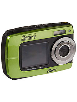 Duo2 2V8WP Dual Screen Shock & Waterproof Digital Camera by Coleman in Green, Toys