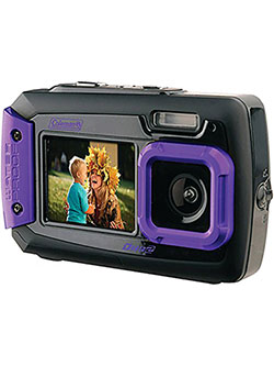 Duo2 2V9WP-P 20 MP Waterproof Digital Camera with Dual LCD Screen by Coleman in Purple, Toys