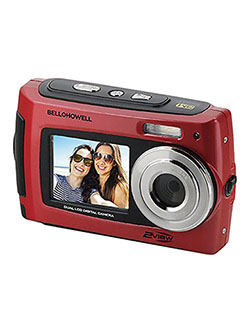 Bell+Howell 2VIEW 18.0MP HD Dual Screen Underwater Digital & Video Camera by Bell + Howell in Red, Toys