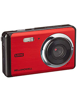 "Bell+Howell 20 Megapixels Digital Camera with 1080p Full HD Video with 3"" LCD, Red by Bell + Howell in Red, Toys"