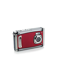 Bell+Howell WP20-R Splash3 20 Mega Pixels Waterproof Underwater Digital Camera with Full 1080p HD Vi by Bell + Howell in Red
