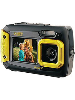 Duo2 2V9WP-Y 20 MP Waterproof Digital Camera with Dual LCD Screen by Coleman in Yellow, Toys