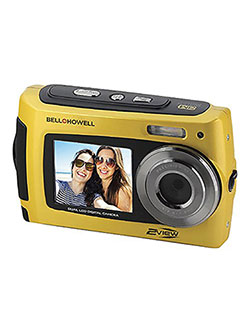 Bell+Howell 2VIEW 18.0MP HD Dual Screen Underwater Digital & Video Camera by Bell + Howell in Yellow, Toys