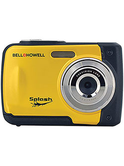 Bell+Howell Splash WP10-Y 16.0 Megapixel Waterproof Digital Camera with 2.4-Inch LCD & HD Video by Bell + Howell in Yellow