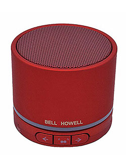 Bell+Howell BH20TWS-R True Wireless Stereo Link Bluetooth Speaker by Bell + Howell in Red