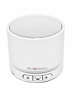 Bell+Howell BH20TWS-W True Wireless Stereo Link Bluetooth Speaker by Bell + Howell in White