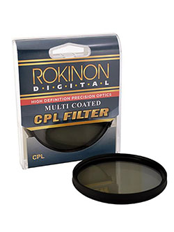 58 Multi-Coated Circular Polarizer Filter by Rokinon in Black