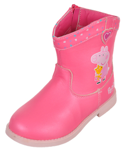 "Peppa Pig Girls' ""Embrace"" Ankle Boots (Toddler Sizes 5 – 10) - CookiesKids.com"