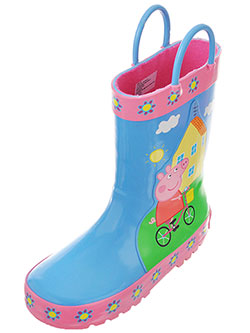 "Peppa Pig Girls' ""Afternoon Ride"" Rain Boots (Toddler Sizes 5 – 10) - CookiesKids.com"