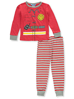 Baby Boys' Fireman 2-Piece Pajamas by Dead Tired in Multi