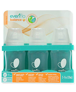 Balance Plus 3-Pack Wide Neck Bottles by Evenflo in White