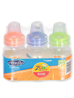 3-Pack Customflow Bottles by Evenflo in Lime/multi