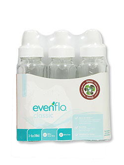Classic 3-Pack Glass Bottles by Evenflo in White