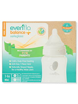 Balance+ Safeglass Baby Bottle by Evenflo in Multi