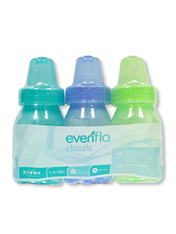 3-Pack Classic Baby Bottles by Evenflo in blue/multi and pink/multi