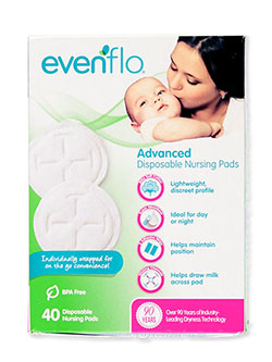 40-Pack Advanced Disposable Nursing Pads by Evenflo in Multi - Breastfeeding