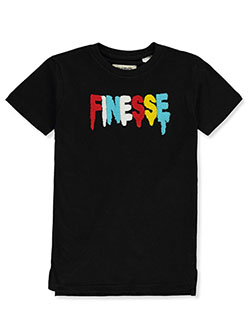 Boys' Finesse T-Shirt by FWRD Denim in black and white