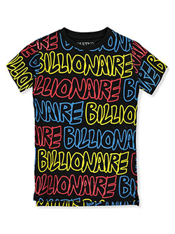 Boys' Billionaire T-Shirt by Evolution in Design in black, heather gray and natural