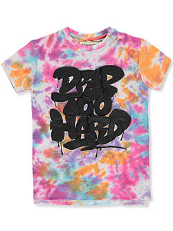 Boys' Drip Too Hard Tie-Dye T-Shirt by Evolution in Black