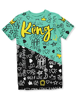 Boys' King Doodle T-Shirt by Evolution in Black - T-Shirts