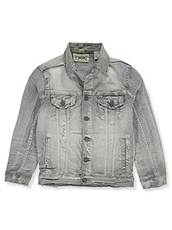 Boys' Denim Jacket by FWRD in gray and ice blue