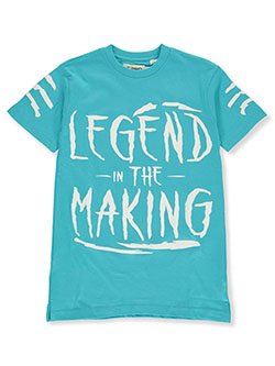 FWRD Boys' Legend in the Making T-Shirt by FWRD Denim in aqua, orange, red and yellow, Boys Fashion